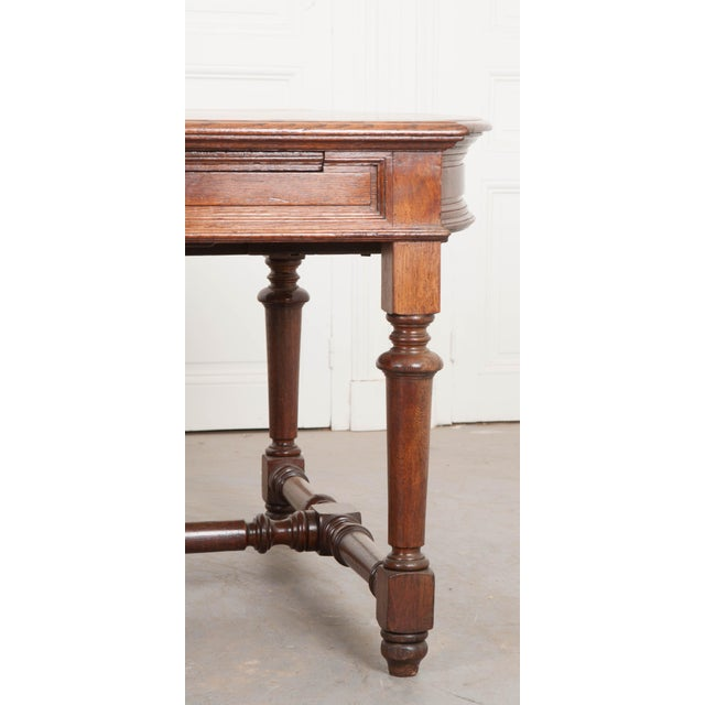 19th Century French Oak Sewing Table For Sale In Baton Rouge - Image 6 of 13
