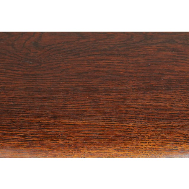 Oak 1900s Gothic Oak Console Table For Sale - Image 7 of 13