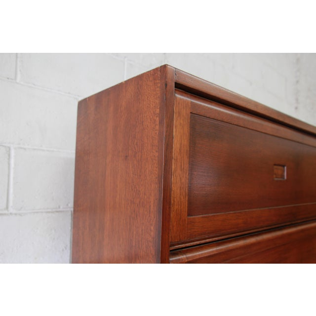 Mid-Century Oak Barrister Bookcase For Sale - Image 10 of 12