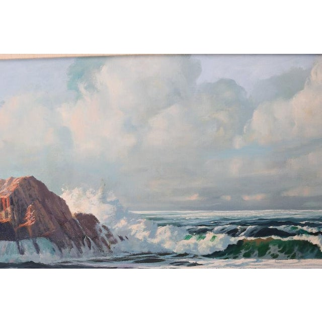 This large scale oil on canvas is by the American artist Robert P. Wheeler (member of the American Society of Marine...