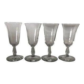 Vintage Swirl Stems Cocktail Glasses S/4 For Sale