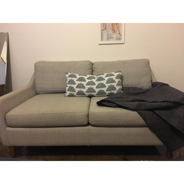 Groovy Mid Century Style West Elm Everett Loveseat Chairish Caraccident5 Cool Chair Designs And Ideas Caraccident5Info