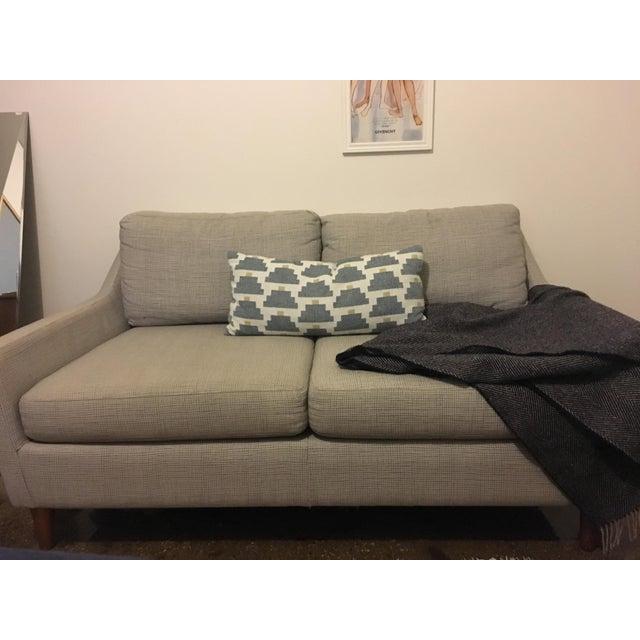Super Mid Century Style West Elm Everett Loveseat Chairish Machost Co Dining Chair Design Ideas Machostcouk