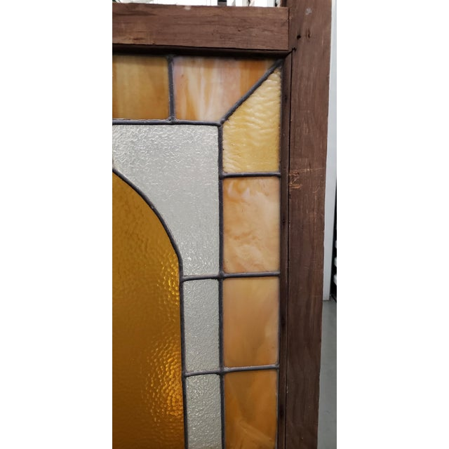 Arts & Crafts Large Late 19th Century Stained Glass Window Panel C.1880 For Sale - Image 3 of 12