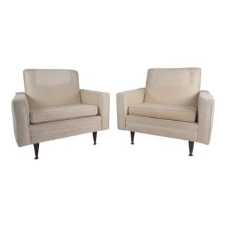Pair of Vintage Modern Paul McCobb Style Lounge Chairs For Sale