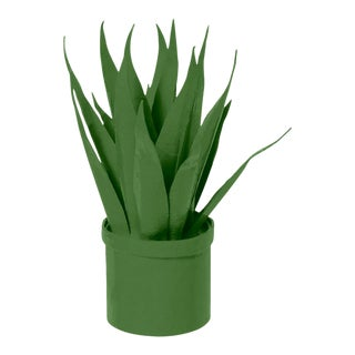 Stray Dog Designs for Chairish Mother-In-Law Tongue Faux Plant, Green For Sale