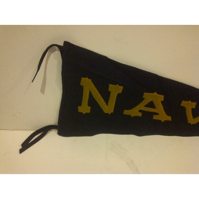 Vintage United States Naval Academy Pennant Circa 1940 For Sale - Image 4 of 7