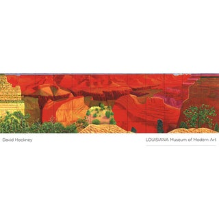 2011 David Hockney 'A Closer Grand Canyon' Pop Art Red,Multicolor,Green,Yellow,Brown Denmark Offset Lithograph For Sale