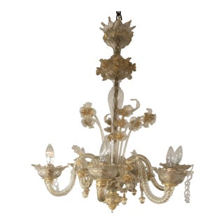 Venetian Blown Glass Chandelier by Sal For Sale