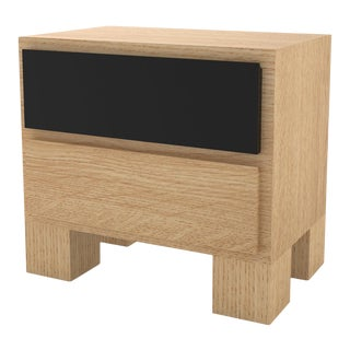 Contemporary 101 Bedside in Oak and Black by Orphan Work, 2020 - 2 For Sale