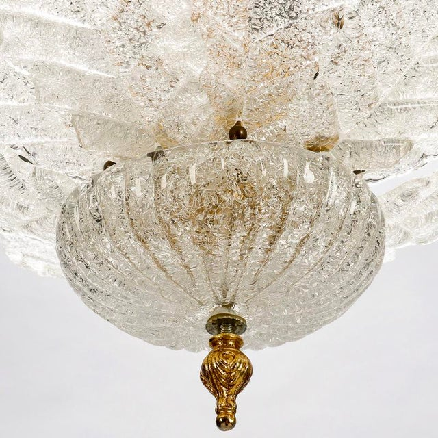Art Deco Era Barovier e Toso Chandelier | Chairish