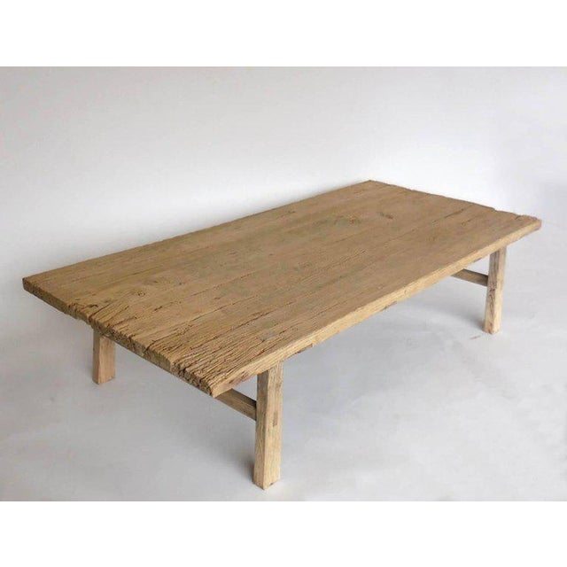 Rustic Northern Japanese Elm Cocktail Table For Sale - Image 3 of 10