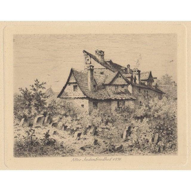 Antique Alter Judenfriedhof Etching - Image 1 of 3