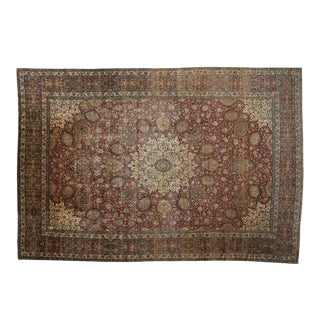 Antique Persian Tabriz Palace Size Rug With the Ardabil Carpet Design - 14'07 X 21'07 For Sale