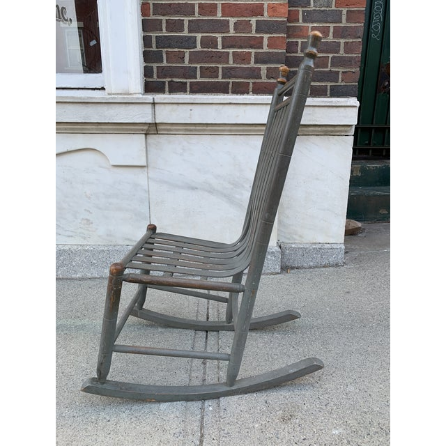 Traditional Late 19th Century Painted Bentwood Rocker For Sale - Image 3 of 5
