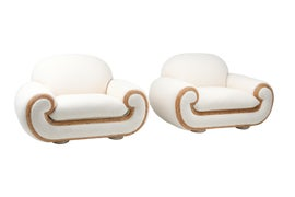 Image of Hollywood Regency Club Chairs