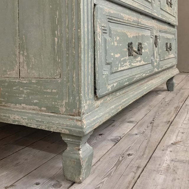 18th Century Country French Painted Commode For Sale In Dallas - Image 6 of 13