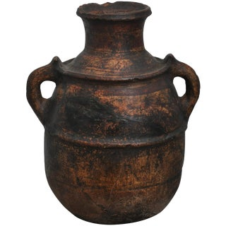 Late 19th Century Primitive Spanish Clay Pot For Sale