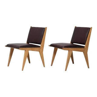 Pair of Italian Side Chairs For Sale