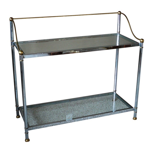 Vintage Chrome & Brass Console - Image 1 of 11