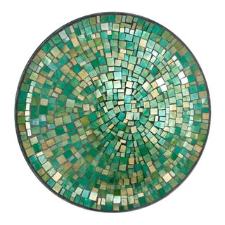 Mosaic Green Glass Plate For Sale