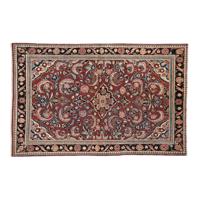 "Vintage Persian Mahal Rug - 4'5"" x 6'10"" For Sale"