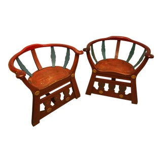 Pair of Hand-Made Scandinavian Chairs For Sale