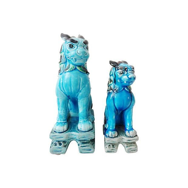 Japanese Temple Foo Dogs - Set of 2 For Sale - Image 4 of 5