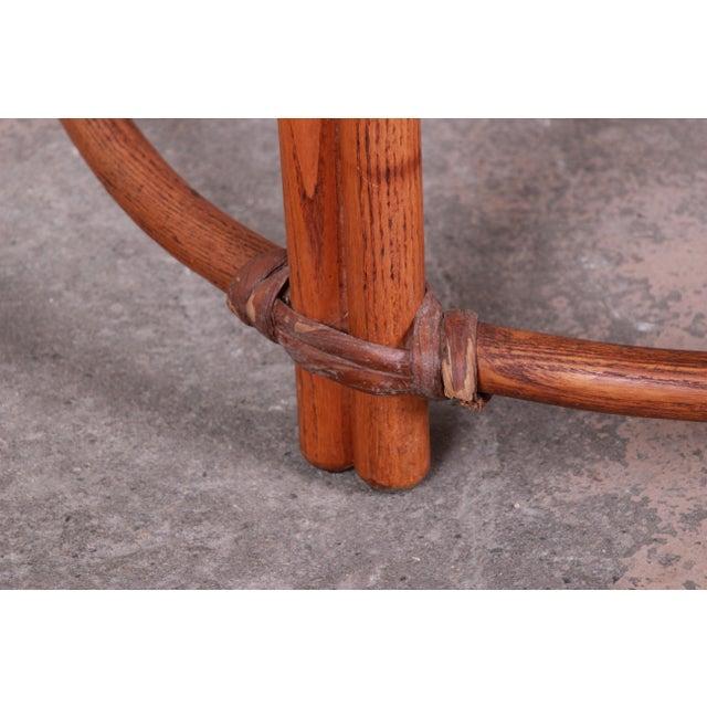 Maple Heywood Wakefield Mid-Century Modern Rattan Corner End Table For Sale - Image 7 of 10