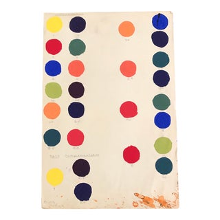 1955 Mid Century Modern Color Chart by Artist Phyllis Myrick For Sale