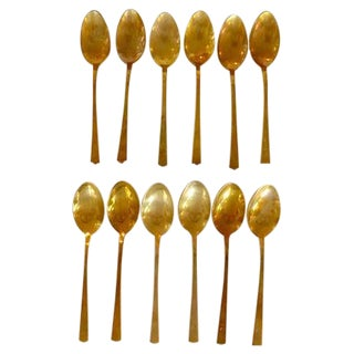 Mid-Century Brass/Bronze Teaspoons - 12