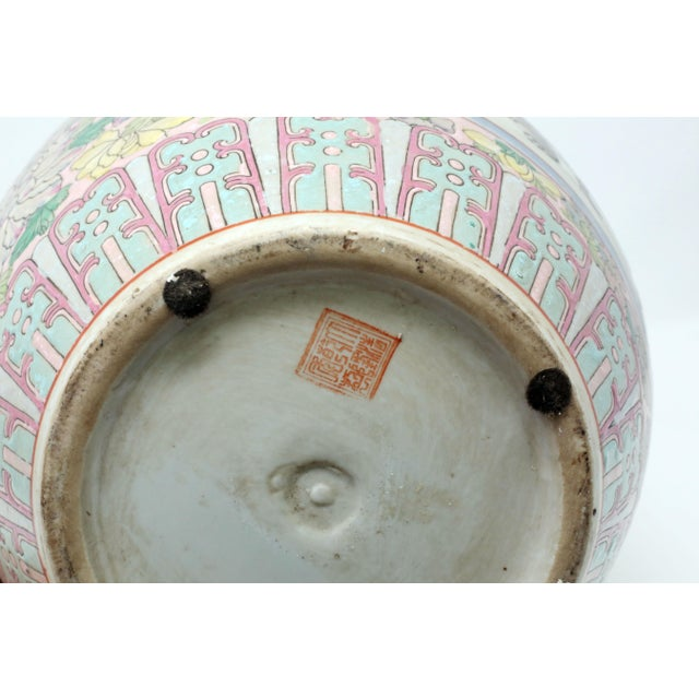 Vintage Hand-Painted Chinese Family Temple Jar For Sale - Image 9 of 12