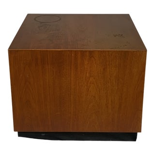 1960s Danish Modern Cube Type Small End Table For Sale