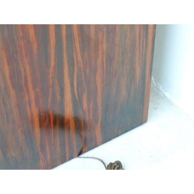 White 1970s Mid Century Modern Rosewood & Acrylic Floor Lamp Table For Sale - Image 8 of 13