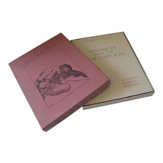 """1936 Illustrated """"Sonnets From the Portuguese"""" by Elizabeth Barrett Browning in Box For Sale"""