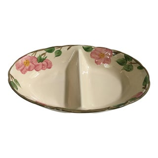 20th Century Franciscan Divided Serving Dish in Desert Rose Pattern, England For Sale