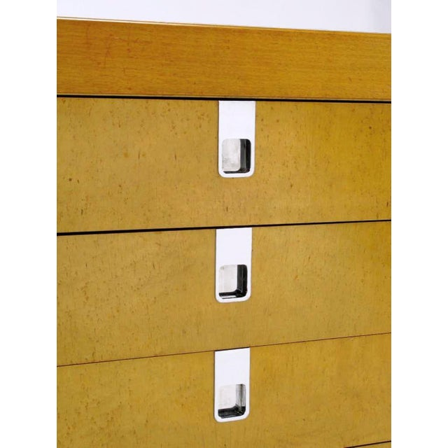 Brian Palmer For Baker Birdseye Maple Modular Three Piece Cabinet For Sale In Chicago - Image 6 of 7
