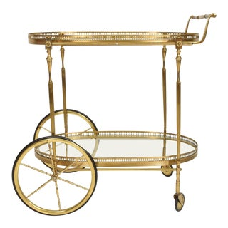 Hollywood Regency Italian Service Cart Aldo Tura For Sale