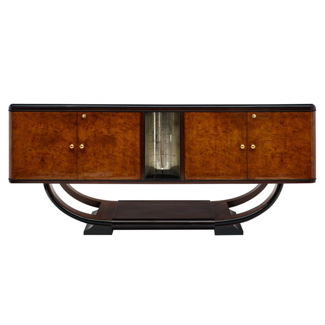 1940s Vintage Burled Buffet For Sale - Image 10 of 10