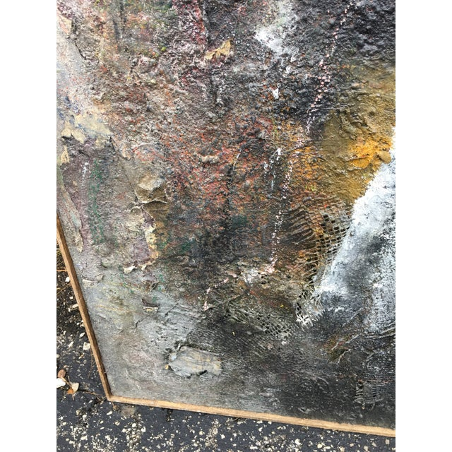 """1980s Tall Abstract """"Summer 1988"""" Gray Mixed Media Painting by Louis Papp For Sale - Image 5 of 8"""