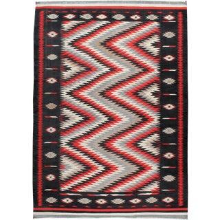 "Vintage Indian Flat-Weave Dhurrie Carpet - Size: 9' 5"" X 13"" For Sale"