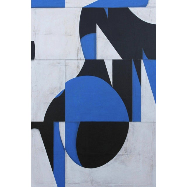 Blue Acrylic Painting on Panel Titled: Pdp799 For Sale - Image 8 of 8