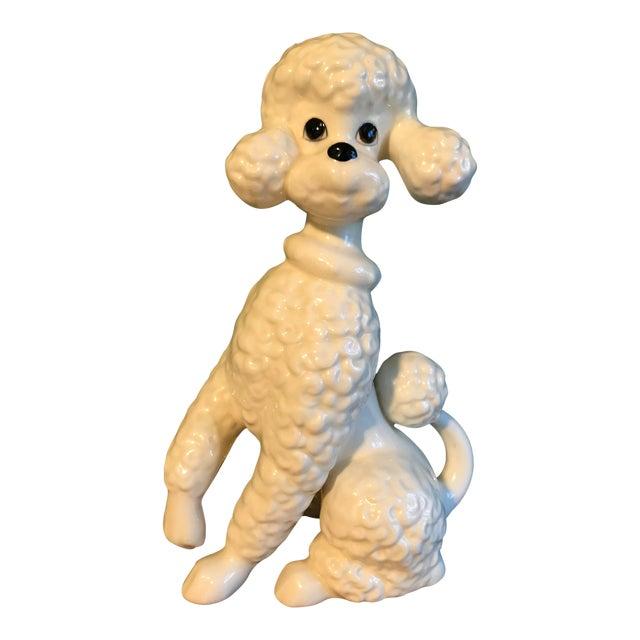 Vintage Ceramic Poodle Statue   Chairish