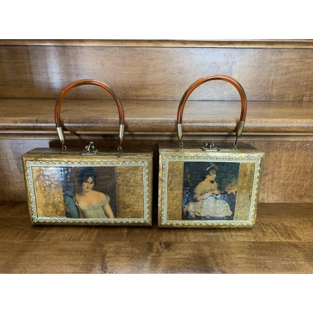 Gold Decor Wall Hanging Victorian Boxes - a Pair For Sale - Image 11 of 12