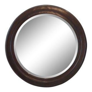 Early 20th Century Round Mahogany Mirror For Sale