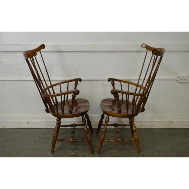 Nichols & Stone Set of 6 Windsor Style Dining Chairs - Image 3 of 10
