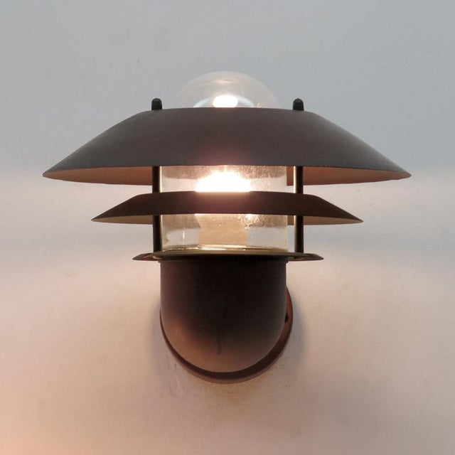 Nordlux Danish Outdoor Wall Lights - a Pair For Sale - Image 9 of 11