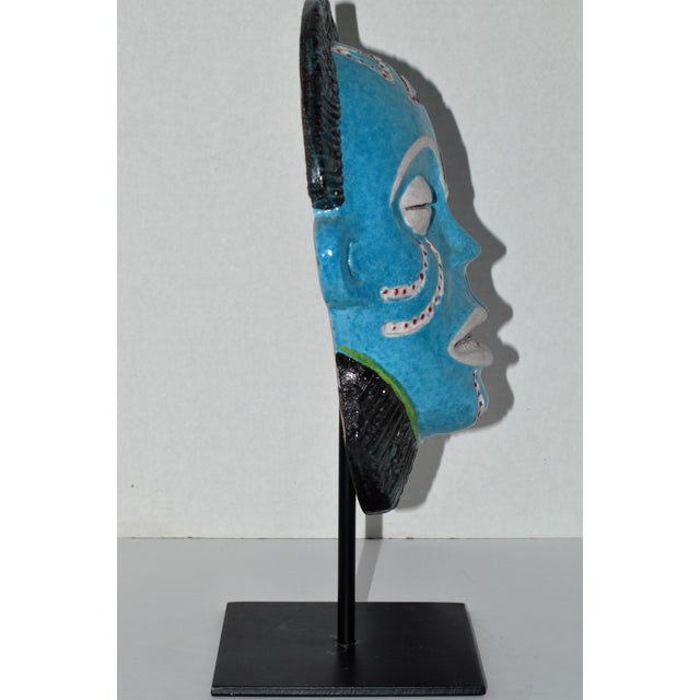 Neiman Marcus Italian Clay African Tribal Mask - Image 3 of 6