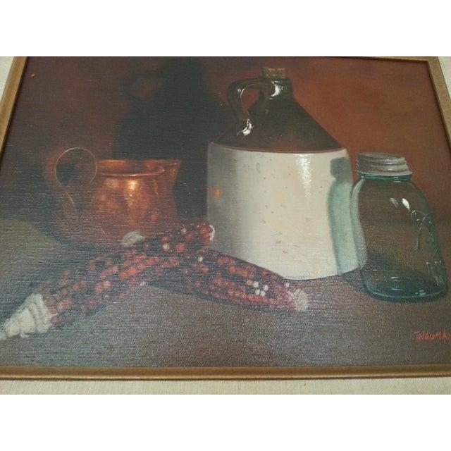 Original Vintage Still Life Painting - Image 5 of 8