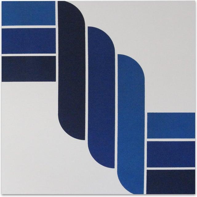 Mid-Century Modern Blue Rope Gallery Wrap Print - Image 1 of 3